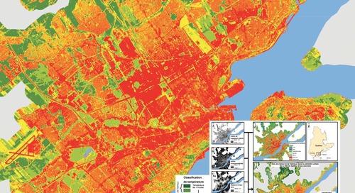 Cartographie des îlots de chaleur et de fraîcheur dans la région de Québec