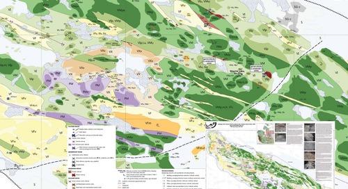 Géologie des roches volcaniques au lac Sharrie, sud du Craton des esclaves, Territoires du Nord-Ouest