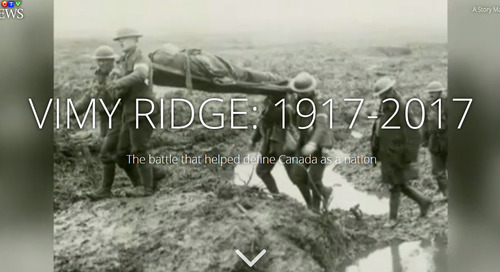 CTV News digital producer wins gold for Vimy Ridge story map