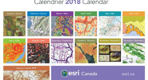 Cartes et applications retenues pour le calendrier et les applications du mois d'Esri Canada 2018