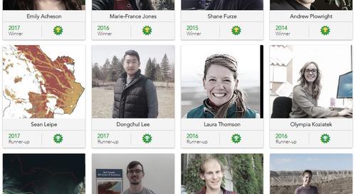 Serez-vous le prochain lauréat canadien du prix Jeunes étudiants d'Esri?