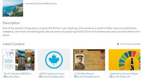 Découvrez le Chercheur de ressources d'ArcGIS Online pour l'enseignement primaire et secondaire