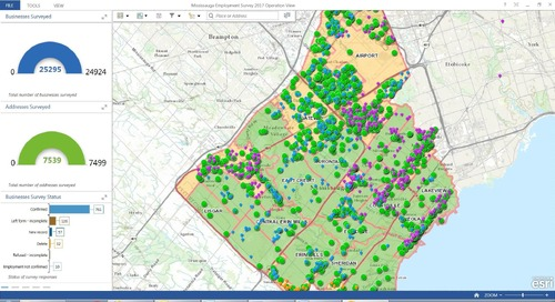 Mississauga modernizes its Employment Survey using GIS