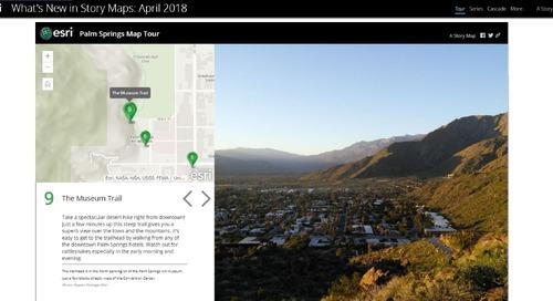 Les nouveautés dans ArcGIS Online : mise à jour d'avril 2018