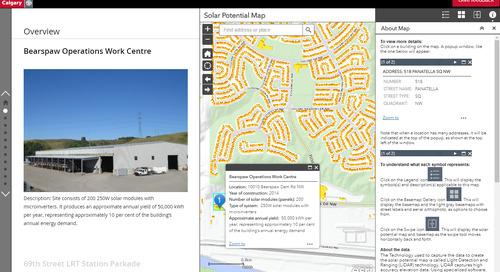 Application du mois de mai : Carte de potentiel solaire de la Ville de Calgary