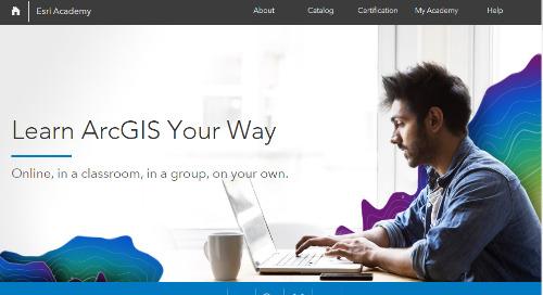Esri Academy : découvrez de nouveaux outils d'apprentissage en ligne pour les spécialistes des SIG