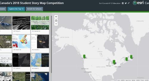 Découvrez les résultats de la première édition du concours de cartes récits d'élèves d'Esri Canada