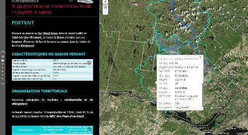 Application du mois d'août : À la découverte du bassin versant de la rivière à Simon
