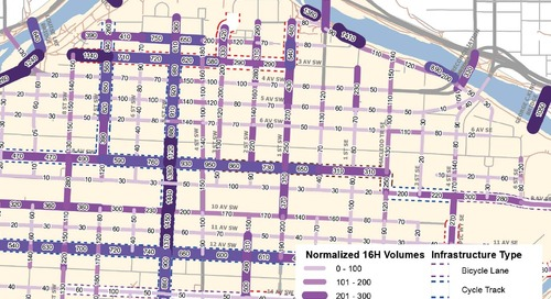Centre City Bicycle Volume Map