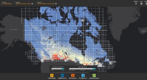 Application du mois : Atlas climatique du Canada