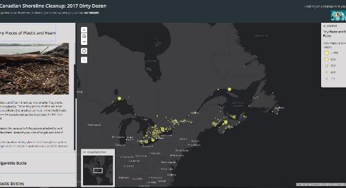 Application du mois : Grand nettoyage des rivages canadiens : la liste noire