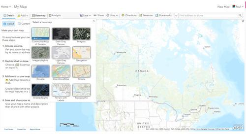 Mises à jour d'ArcGIS Online pour le Canada, juin 2019