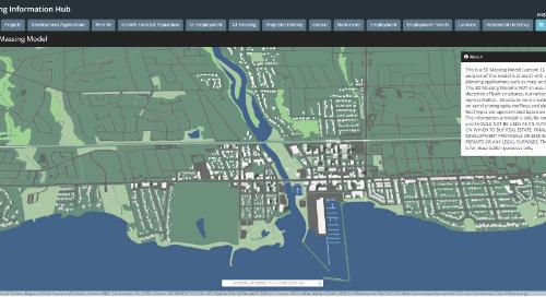 Application du mois : Modèle de masse 3D : centrale d'information sur la planification