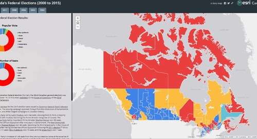 Examine Canada's federal elections through interactive maps