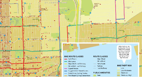 Toronto's East Side Bike Routes