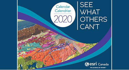 Which maps were selected for the 2020 Esri Canada Map Calendar?
