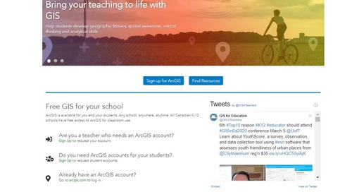 Esri Canada's K-12 web site: A new look for a new decade
