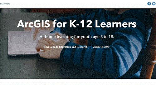 Ressources pour l'apprentissage en ligne à la maison avec ArcGIS