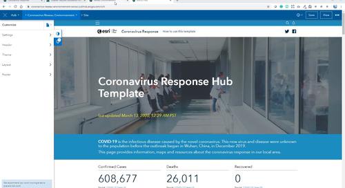 Démarrer le Coronavirus Response Template