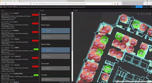 Comment ramener le personnel sur le lieu de travail en toute sécurité en utilisant les outils d'Esri