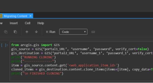 Un script simple pour migrer du contenu d'ArcGIS Enterprise