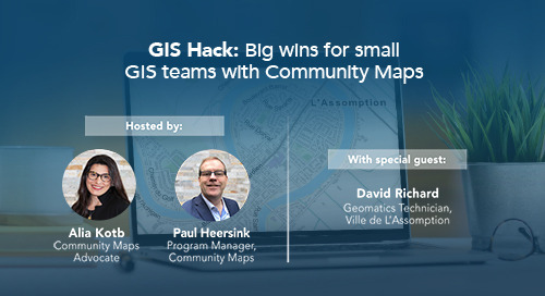 GIS Hack: Big wins for small GIS teams with Community Maps