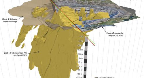 Progression de l'exploitation à ciel ouvert, mine de Rainy River