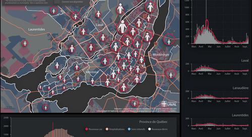 Distribution géographique et temporelle de la COVID-19 au Québec