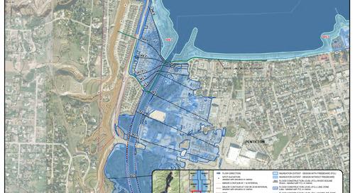 Cartographie des inondations près des affluents de l'Okanagan – Carte des plaines inondables