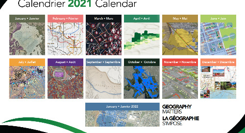 Maps selected for the 2021 Esri Canada Map Calendar