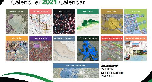 Cartes sélectionnées pour le calendrier 2021 d'Esri Canada
