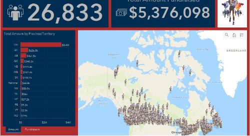 La Fondation Terry Fox donne de la visibilité à ses collectes de fonds au moyen des SIG
