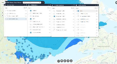 Application du mois : Visualiseur de données climatiques de Eastern Charlotte Waterways