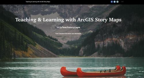 Ateliers virtuels ArcGIS pour les enseignants du primaire et du secondaire