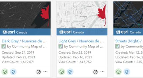 Ajout des fonds de carte vectoriels de la carte communautaire du Canada à Enterprise