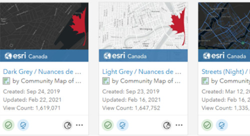 Adding the Community Map of Canada Vector Basemaps to Enterprise