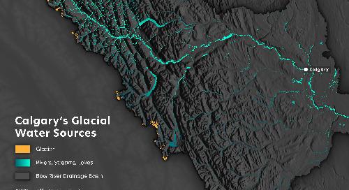 La source de l'eau potable de Calgary selon le point de vue d'un cartographe