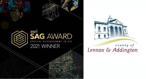 Le comté de Lennox et Addington remporte le prix Special Achievement in GIS d'Esri