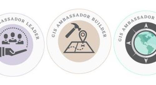 Introducing GIS Ambassador Badges