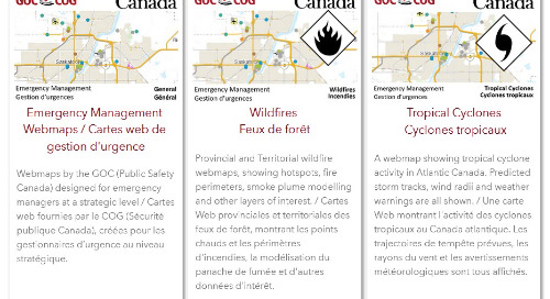 Des cartes web de gestion d'urgence sont désormais offertes dans le Living Atlas