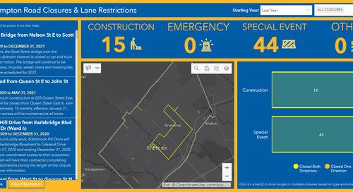 Application du mois : Fermetures de routes à Brampton