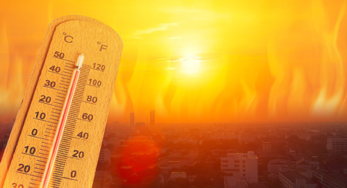 How can GIS help mitigate the effects of extreme heat on public health?