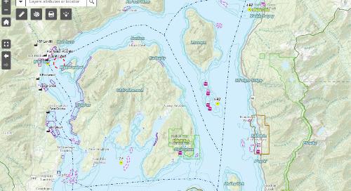 Application du mois : guide de référence marin de la baie Howe/Átl'ḵa7tsem