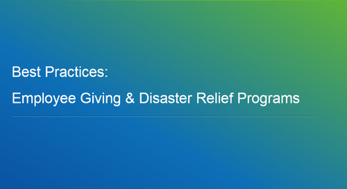 Webinar: Best Practices - Employee Giving & Disaster Relief Programs
