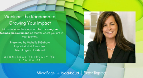 Webinar: The Roadmap to Growing Your Impact