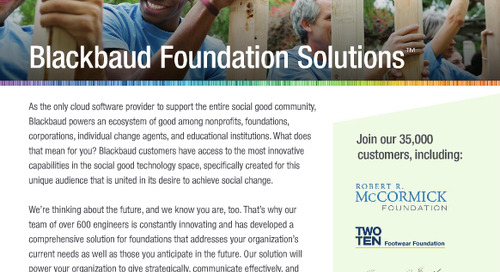 Blackbaud Foundations Solutions