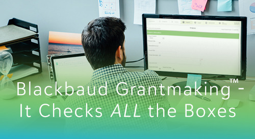 Monthly Blackbaud Grantmaking Webinars