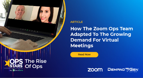 Article: How The Zoom Ops Team Adapted To The Growing Demand For Virtual Meetings