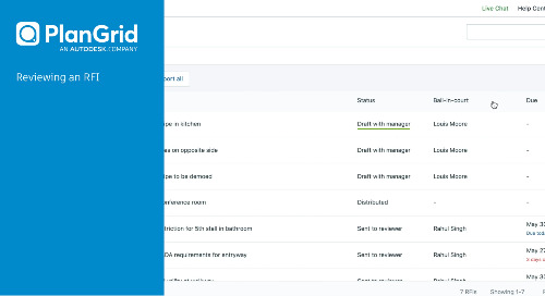 PlanGrid Advanced RFIs: Review RFIs