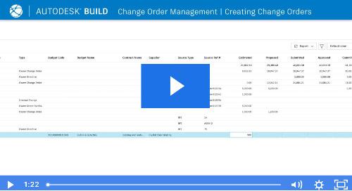 Change Order Introduction